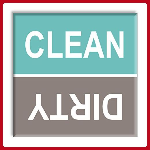 Clean Dirty Dishwasher Magnet Sign Indicator - Turquoise and Gray Beach Colors Style - Kitchen gadgets (*Amazon Partner-Link)