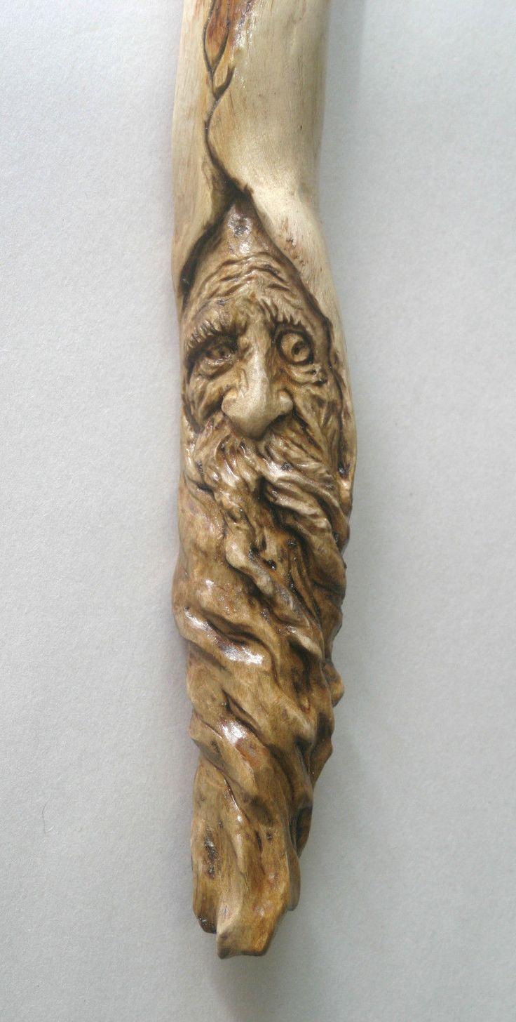 Деревянный дух резьба мастер хоббит гном Викканская скульптура странные странные нечетные дно | eBay