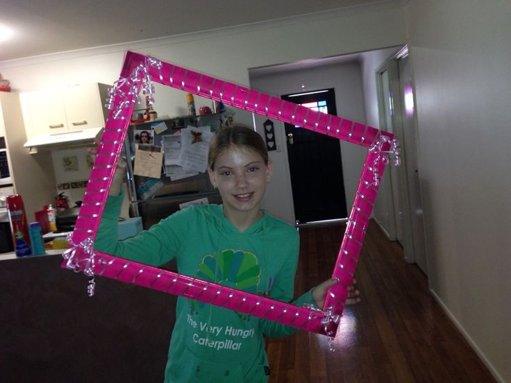 Fun photo frame for a ink breast cancer fundraiser