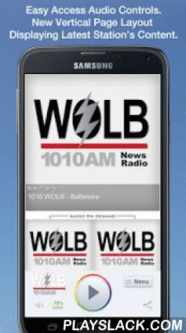 1010 WOLB - Baltimore  Android App - playslack.com , Never be without your favorite radio station. 1010 WOLB - Baltimore is proud to present our OFFICIAL radio app. Listen to us at work, home or on the road. Install our app and get instant access to our unique content, features and more!- New design and interface- See current playing show and up to date station and local news on a single screen- Get notifications and single click access to any station promotions or contests- View station's…