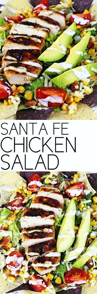 Santa Fe Chicken Salad #chickensalad #salad #healthy