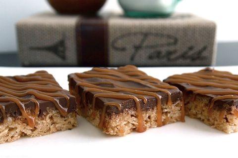 Salted Caramel & Nutella Rice Krispie Treats: Desserts, Sweet Treats, Food, Rice Krispies, Sweet Tooth, Recipe Balances, Nutella Rice, Rice Krispie Treats, Salted Caramels