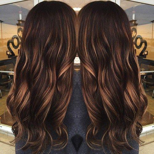 35 Scrumptious Vibrant Hues for Chocolate Brown Hair WishJewe