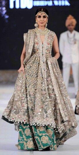 Wedding dress for Indian/Pakistani Bride. #wedding #bridaldress See more at Pinterest @primadonnaa