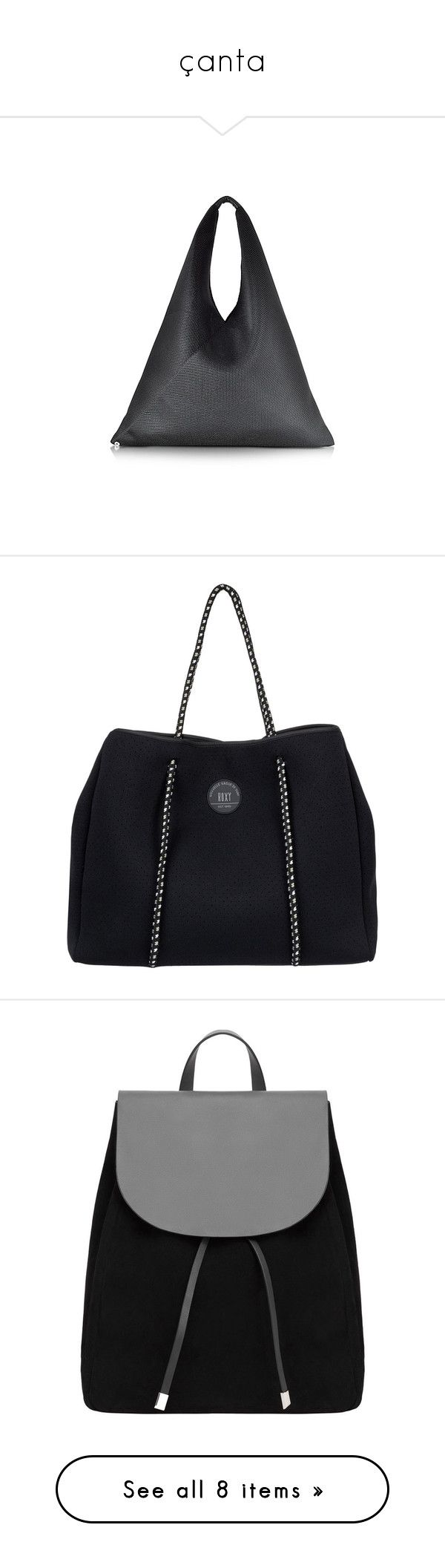 """""""çanta"""" by busranurokur ❤ liked on Polyvore featuring bags, handbags, tote bags, black, beach tote, mesh beach tote bag, handbag purse, perforated tote, handbags totes and neoprene totes"""