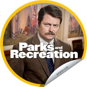 getglue stickers nbc parks and recreation | ... be his Valentine. Say yes by checking in to #ParksandRec on @GetGlue