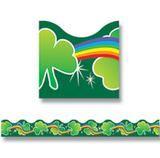 Shamrocks & Rainbow Bulletin Board Border, Scalloped