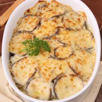 Cheesy Baked Eggplant: This is one of our favorite recipes because it's a change-up from the usual Eggplant Parmesan. This is a little bit lighter, but still just as filling.