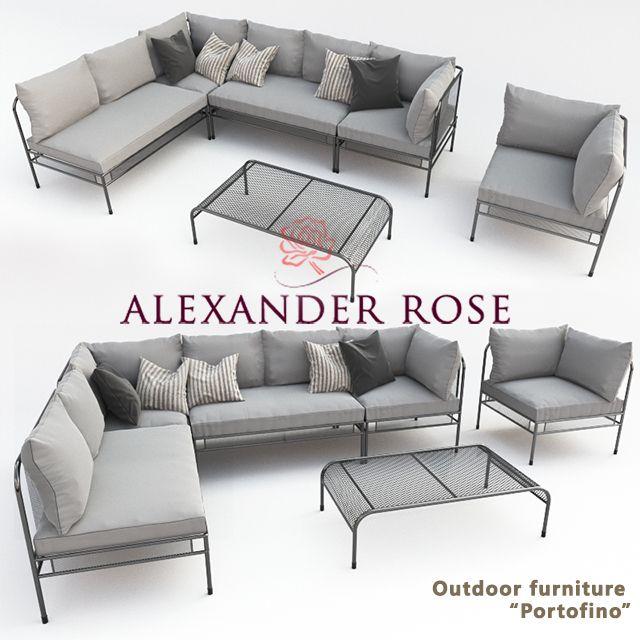 3d Model Alexander Rose Sofa 140 Free Download Furniture Sofa Soft Seating