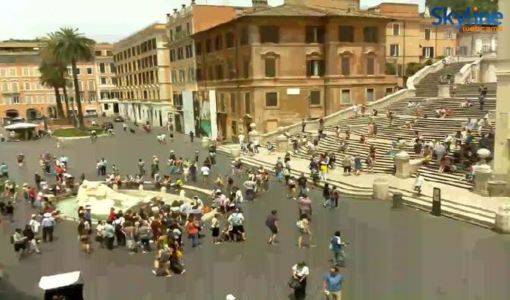 Live Cam Piazza di Spagna. On my first trip to Europe, one of my fondest memories was dipping my feet in this fountain on a hot day in July, appreciating with my buddies how great life could be. Back then, cars were still whipping around us at great speed, and still, it was incredibly peaceful.