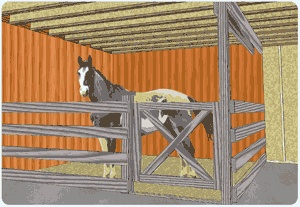 simple and cute horse stall