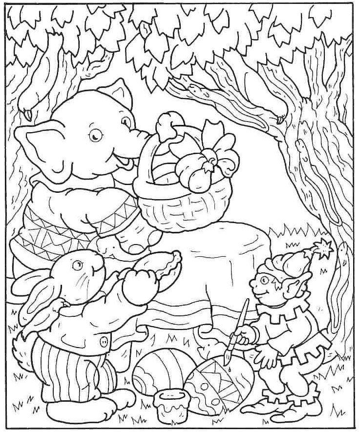Kleurplaten pasen plaatjes: Easter Spring Coloring, Kleurplaten Pasen, Kids Stuff, Tekenlesidee Voorjaar, Children