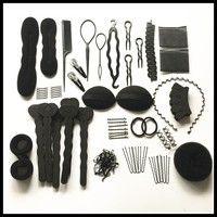 Women Hair Tool Set Accesories DIY Magic hair Hair Styling Clip Pads Foam Sponge Hairpins Bun Donut Accessory Maker Tool