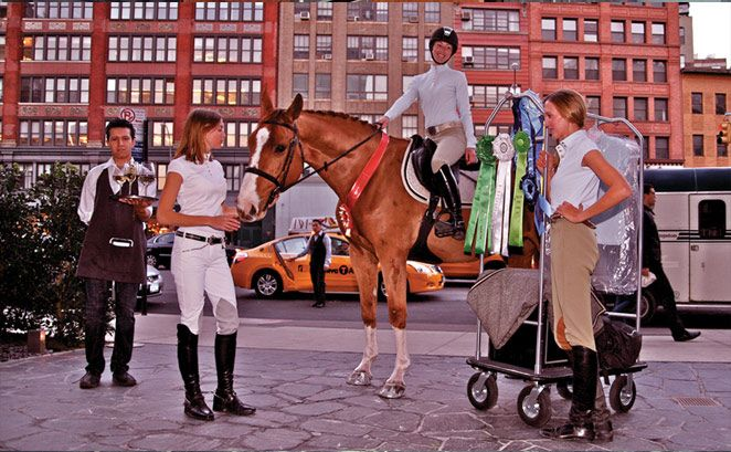 Éce Equestrian apparel. A sophisticated look with athletic functionality.