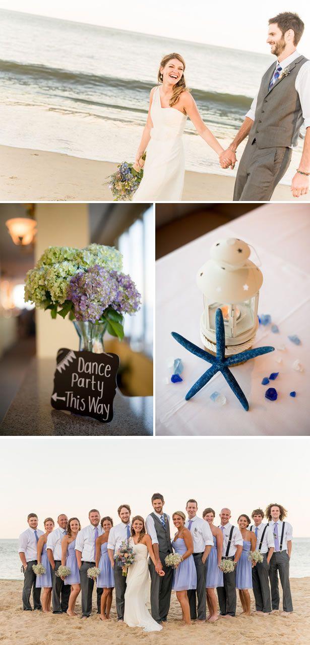 Periwinkle Summer Beach Wedding in Delaware | WeddingWire: The Blog