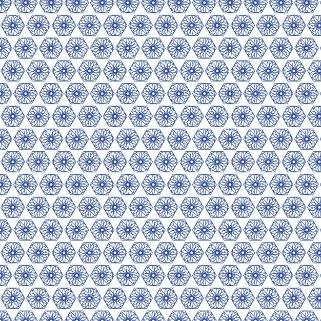 Blue abstract shapes pattern design Free Vector
