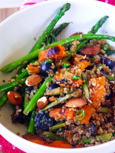 Quinoa with Apricots, Asparagus & Almond (use agave)