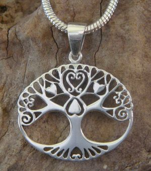 Tree of Life Necklace 925 Silver Celtic Tree of Life with Hearts - available at www.treeoflifejewellery.com #celtictreeoflife #treeoflife #treeoflifenecklace