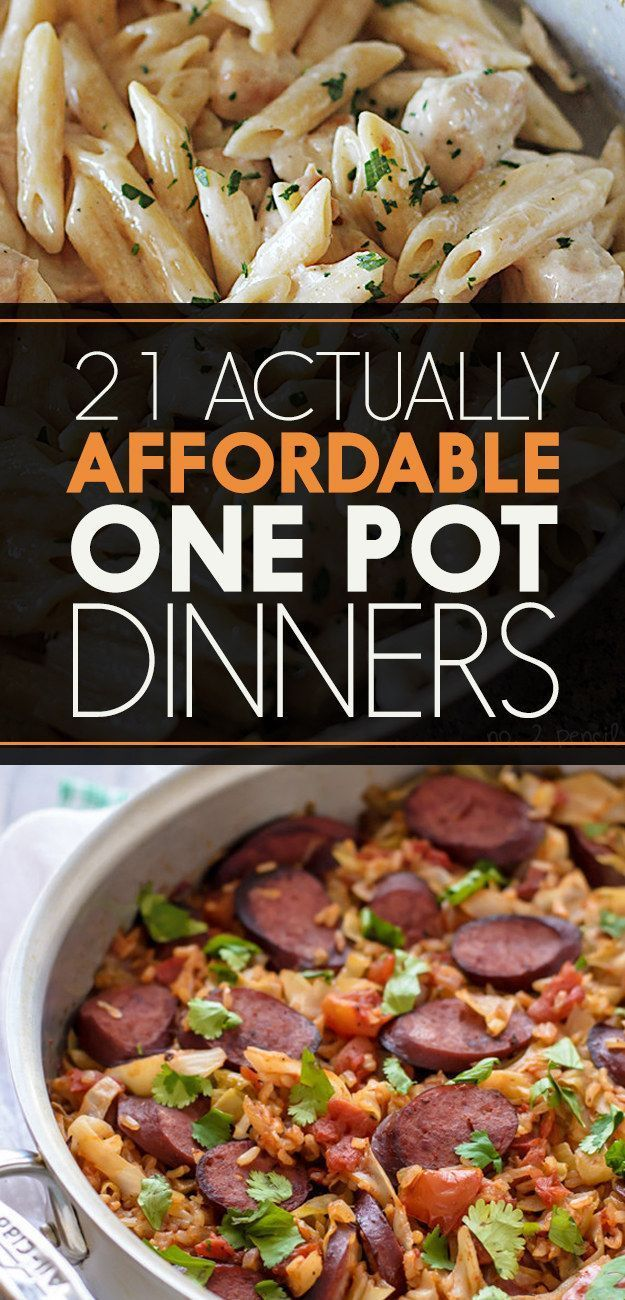 21 Delicious One-Pot Meals That Are Actually Affordable one pot dinner, one pot recipes #recipe