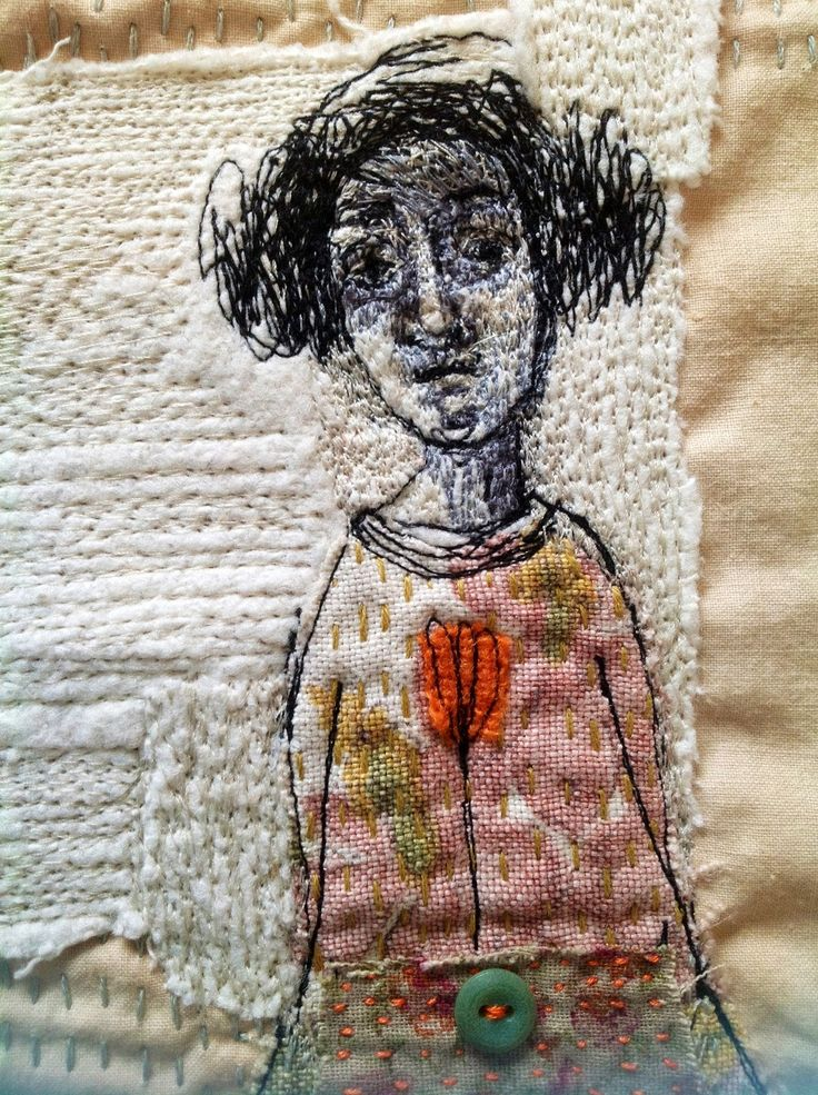 I love the texture! The Bloggings Of Mrs Bertimus: Freestyle Machine Embroidery
