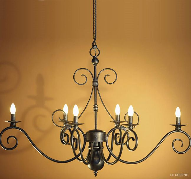 Our Le Cuisine chandelier.. Perfectly suited for kitchens and dining rooms..