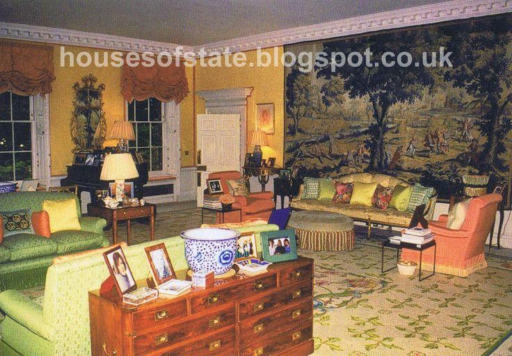 Interior of princess diana kensington palace drawing room of princess diana s apartment - Introir dijane ...