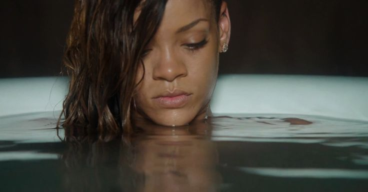 Rihanna's video for 'Stay' without the music is just a really uncomfortable bath.