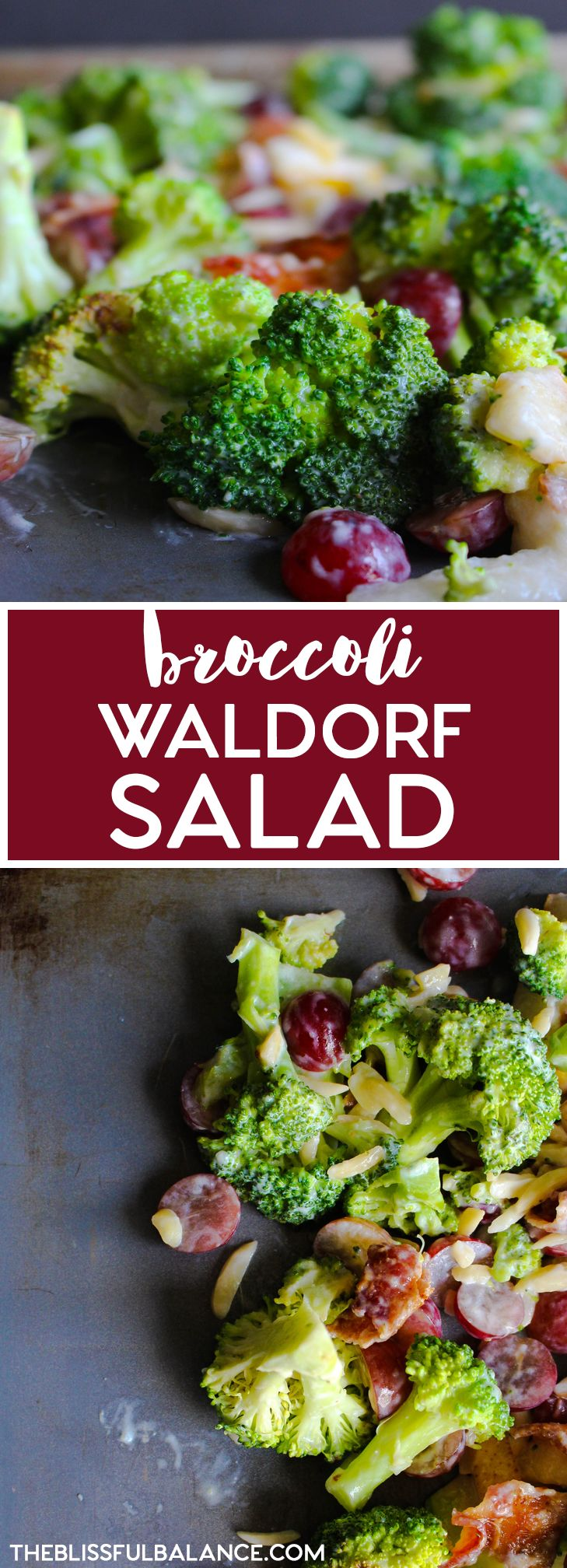 Broccoli Waldorf Salad | the blissful balance