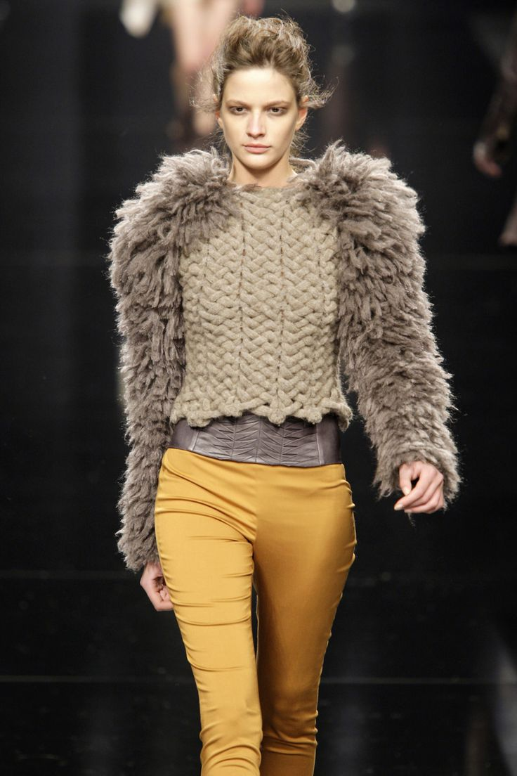 Byblos F/W '11 - love the high and low textures