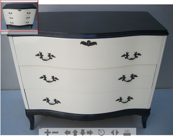 black and white dresser @Carrie Rainey the set you have in your room would do this very nicely.