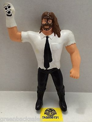 (TAS005131) - WWE WWF WCW nWo Wrestling Bend-Ems Action Figure - Mankind