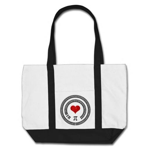 Pi Day #Heart Math Digits 3.14 #Mathematics Love #piday impulse #tote #giftideas