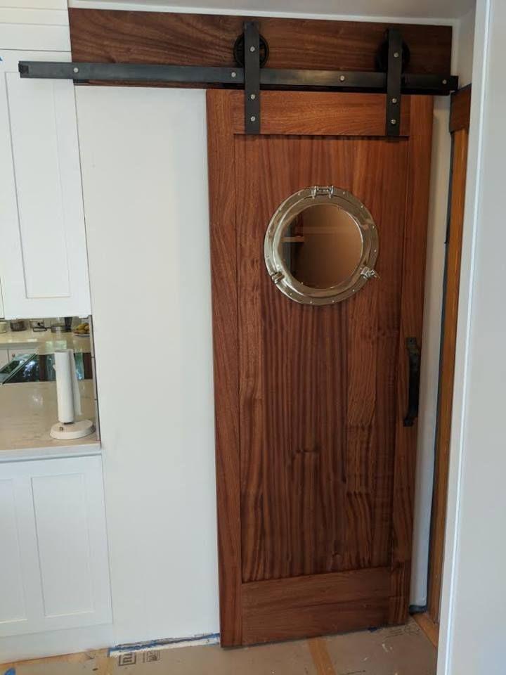 I See You Porthole Door Barn Doors Sliding Barn Door