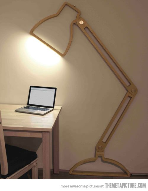 Awesome Creative And Fun Space Saving Lamp Design. Gallery