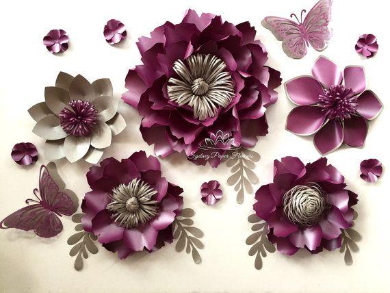 Flor de papel flor PEONÍA papel mini telón por SydneyPaperFlowers