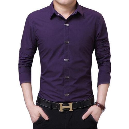 Item Type: Shirts Gender: Men Pattern Type: Solid Sleeve Length: Full Shirts