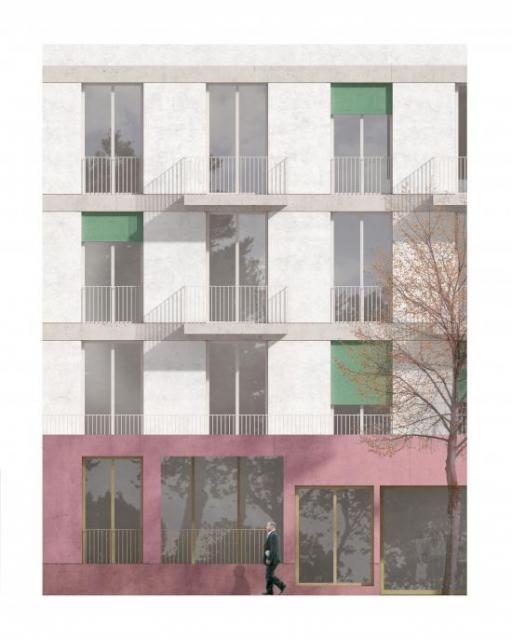 Architektur PALAIS MAI | Paul-Gerhardt-Allee München | 3. Preis | Visualisierung Jonas Bloch