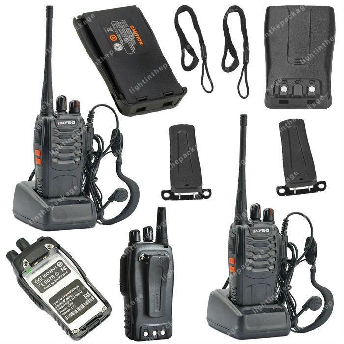 2x BAOFENG BF-888S UHF 400-470MHz 5W 16CH Ham Two-way Radio Walkie/Talkie LB0534