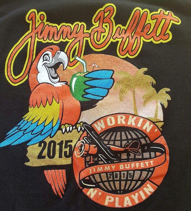 2015 Jimmy Buffett Workin N Playin USA Cities Tour Mens Rare Tee TShirt M #Alstyle #BasicTee