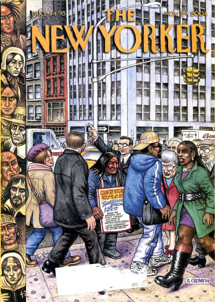 Classic New Yorker cover by Robert Crumb, November 29, 2004.