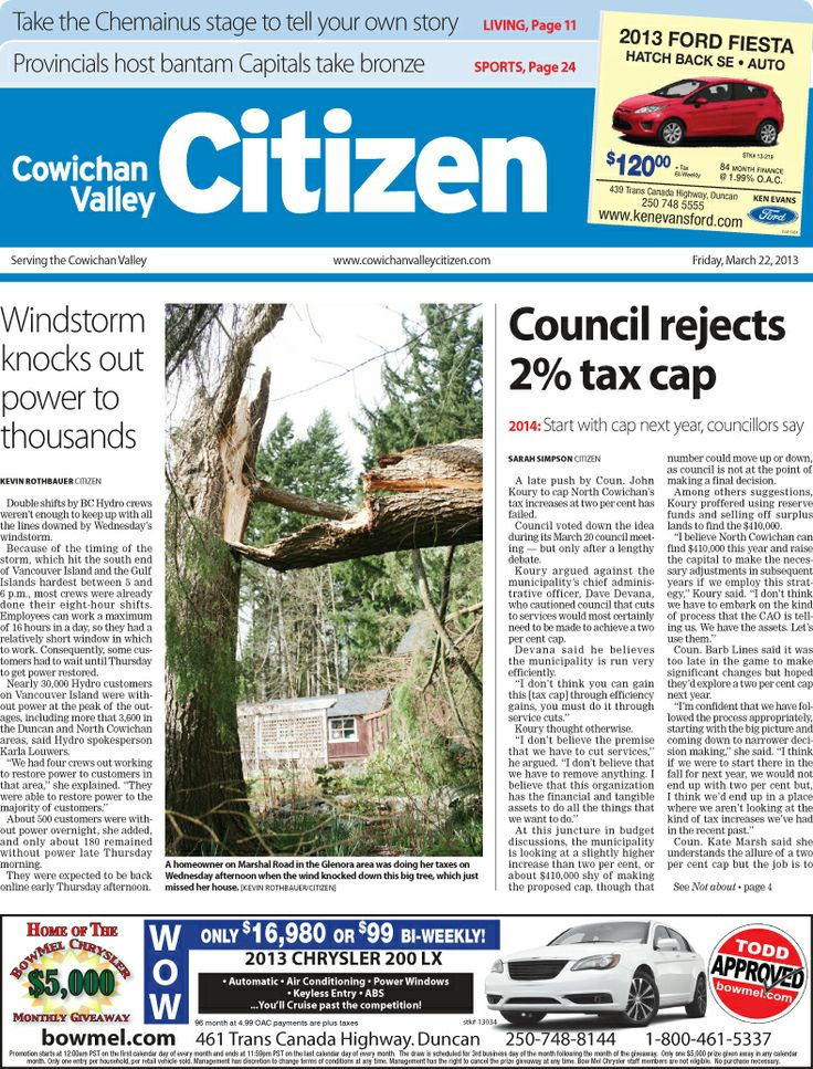 Citizen Front Page, March 22, 2013