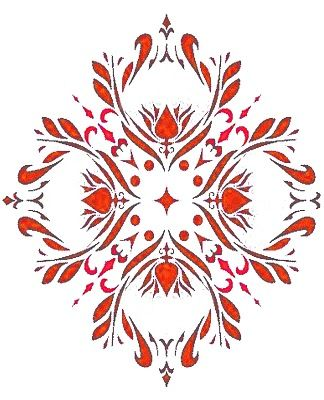 How to make a stencil tutorial from All Things Thrifty blog with link to stencil patterns