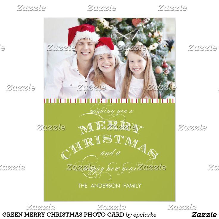 GREEN MERRY CHRISTMAS PHOTO CARD
