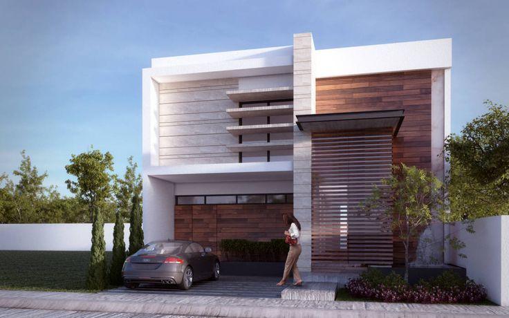 17 mejores ideas sobre fachadas de casas contemporaneas en for Fachadas de casas modernas wikipedia