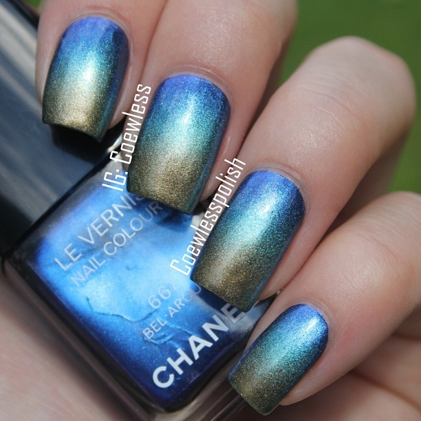Gradient nails: Nails Art, Chanel Nails, Nails Colors, Metals Gradient, Chanel Gradient, Perfect Polish, Gradient Nails, Gradient Mani, Nails Polish