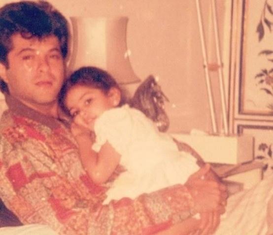 Anil Kapoor with Sonam Kapoor.