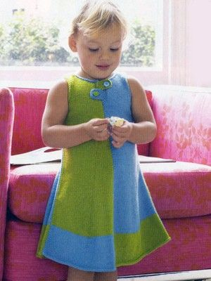 Mondrian Dress from Debbie Bliss Magazine #06 by  at KnittingFever.com