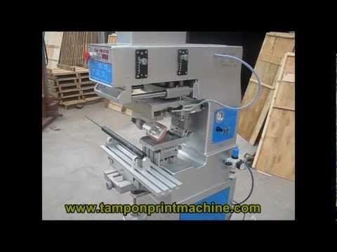 Pad Rotating Tampo Printing Machine - YouTube
