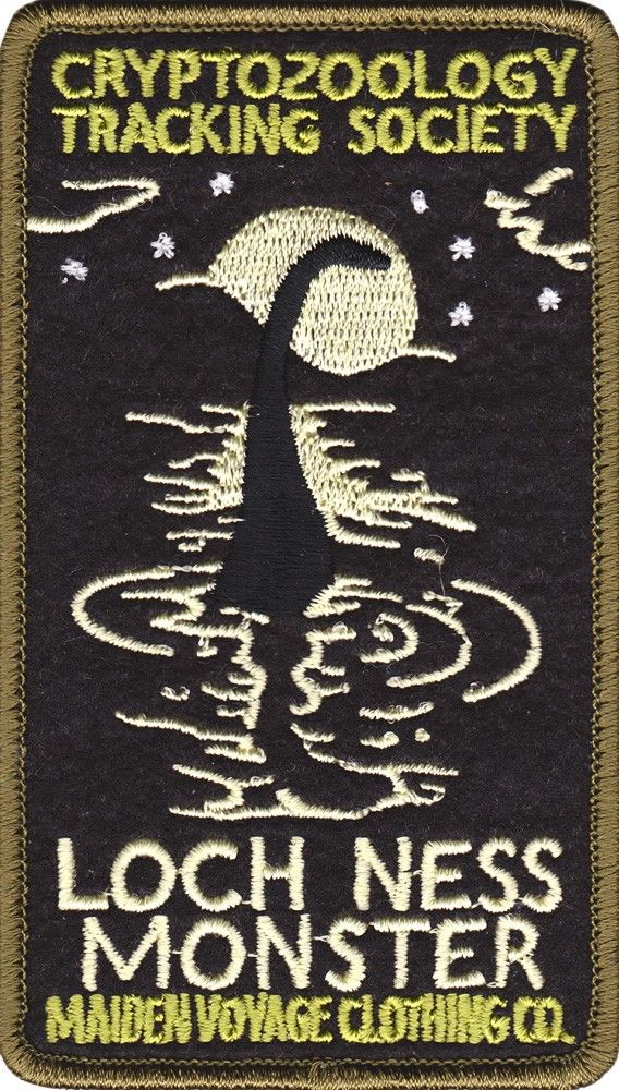 Maiden Voyage Clothing Co. - Crptozoology Tracking Society Loch Ness monster patch.