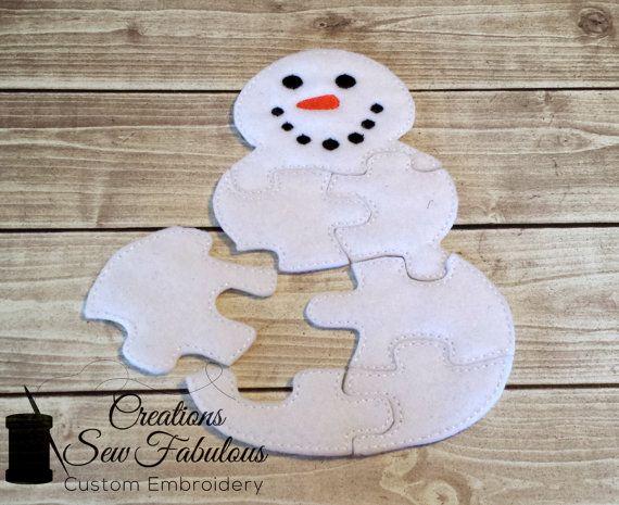 felt snowman puzzle
